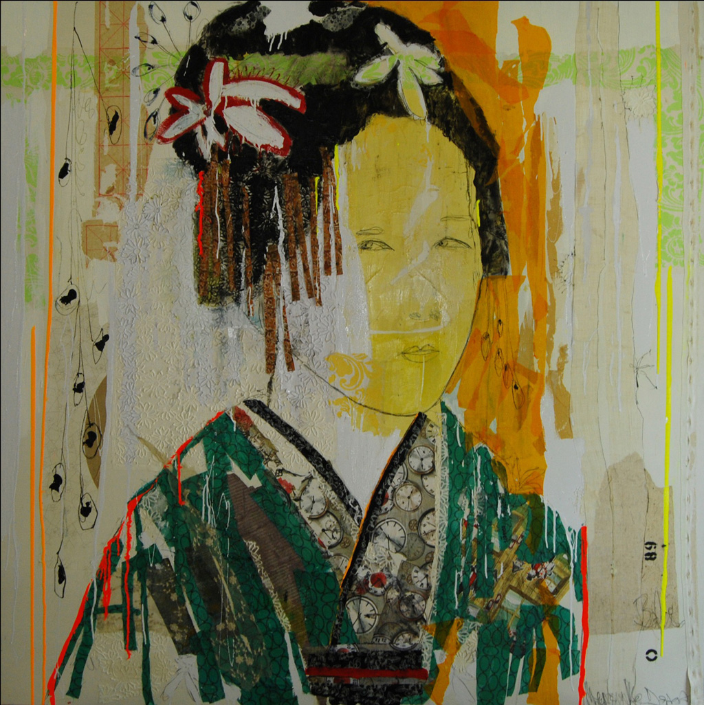 Japanese portraits. The artist is inspired by faces and costumes.
