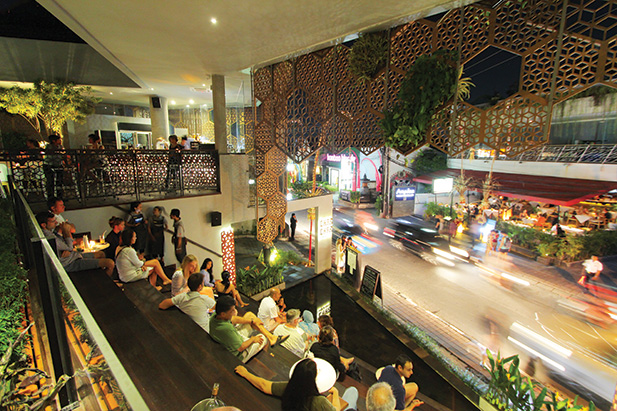 The Terrace Park yourself here to watch Seminyak pass you by