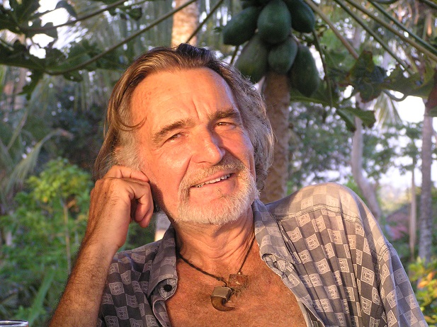 An Epic Life. Douchan Gersi at home in Bali.