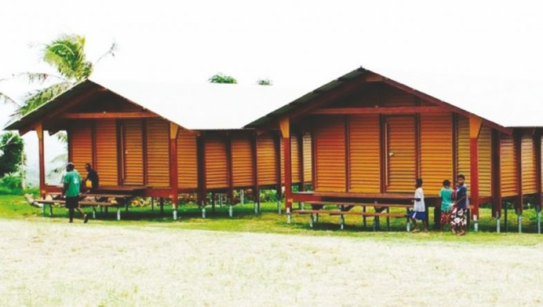 The Nevhouse. Two all-weather, eco-friendly buildings erected in Vanuatu.