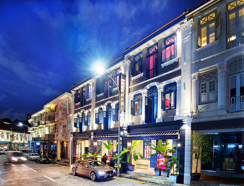 Singapore's heritage and cultural epicentre, Keong Saik Road,  welcomes Hotel Soloha to the 'hood'